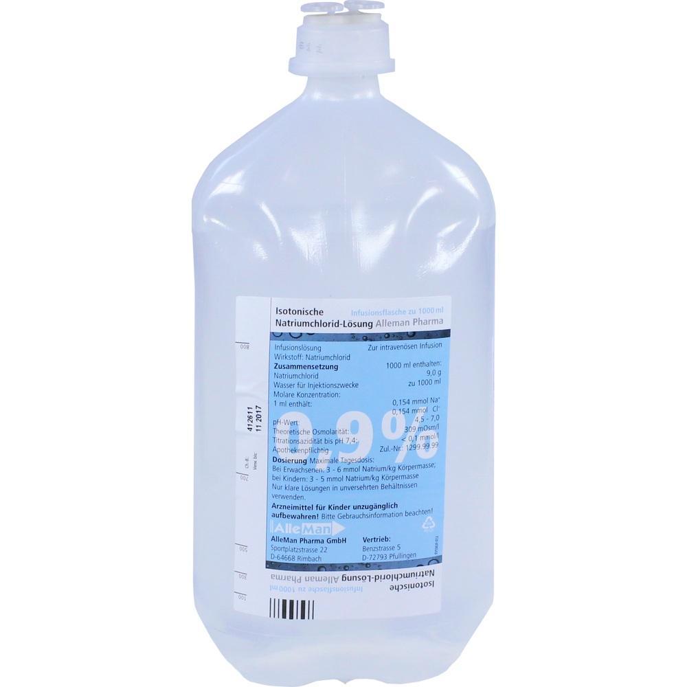 07463045, Isotonische NaCl 0.9% DELTAMEDICA Plastikinf., 1X1000 ML