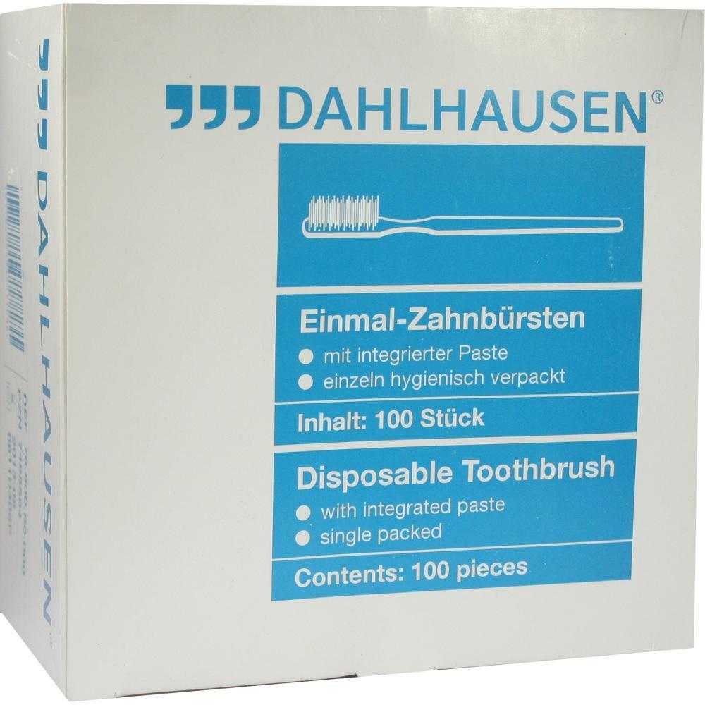 07485584, Einmal-Zahnbürste mit Paste, 100 ST