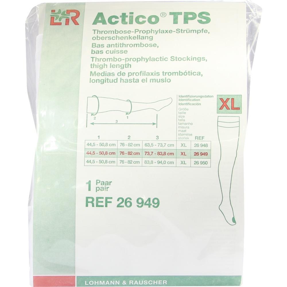 07548994, Actico TPS oberschenkellang Gr.XL normal paarweise, 2 ST