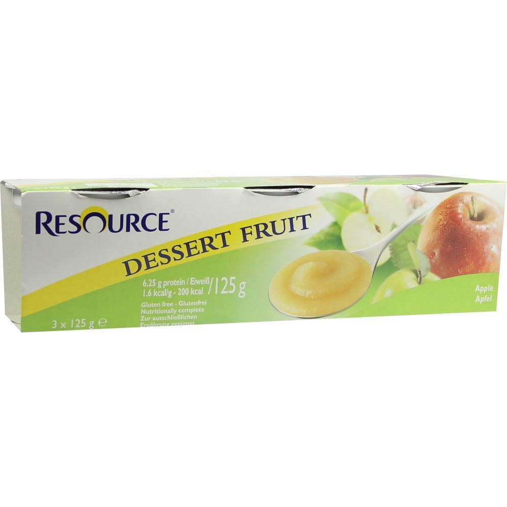 07553995, Resource Dessert Fruit Apfel, 3X125 G