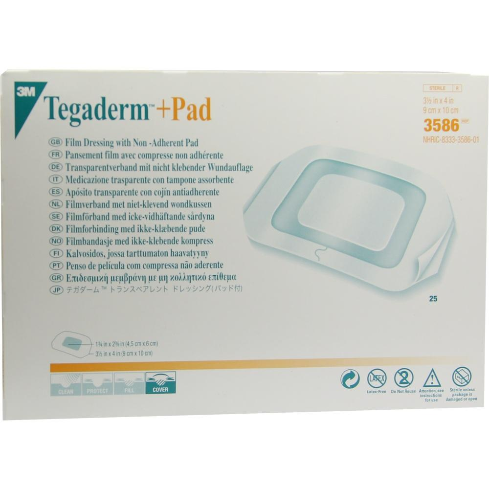 07590424, Tegaderm Plus Pad 3M 9x10cm, 25 ST
