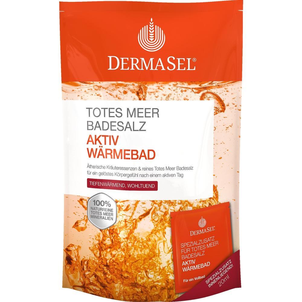 07596355, DermaSel Totes Meer Badesalz + Aktiv Wärme SPA, 1 P