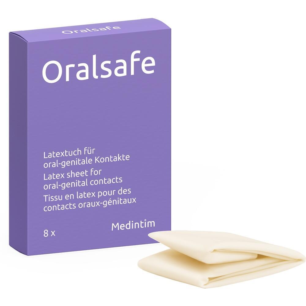 07610724, Oral Safe Latexschutztuch Erdbeere, 8 ST