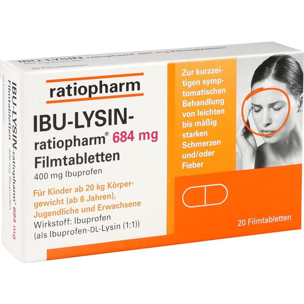 07628546, IBU-LYSIN-ratiopharm 684mg Filmtabletten, 20 ST