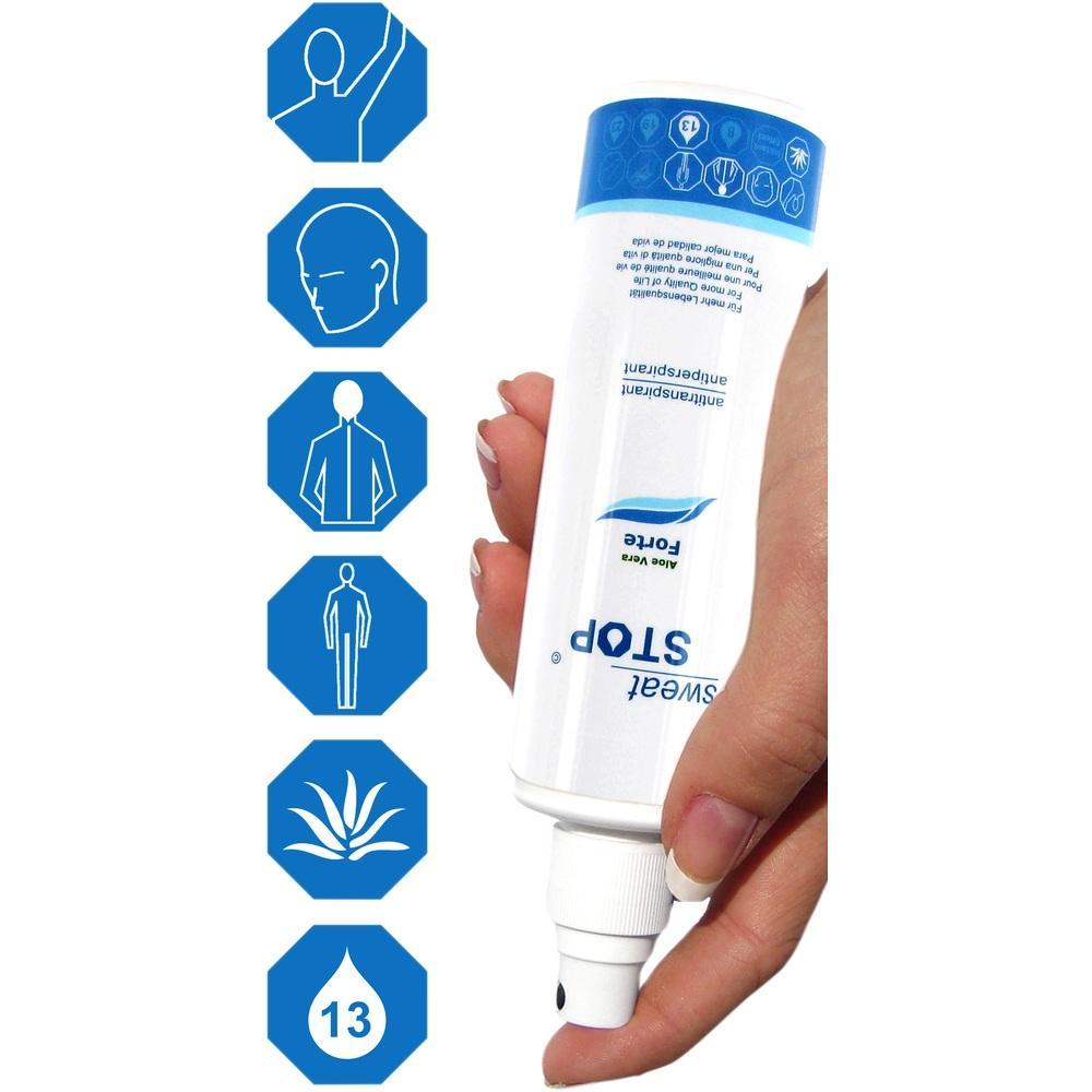 07637568, SweatStop Aloe Vera Forte Upside Down (Spray), 100 ML