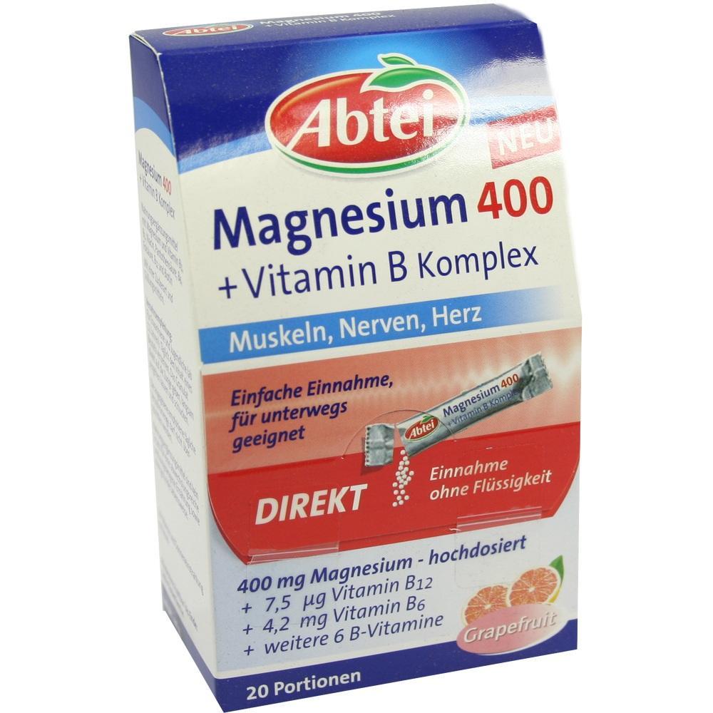 07641038, ABTEI Magnesium 400 + Vitamin B Komplex, 20 ST