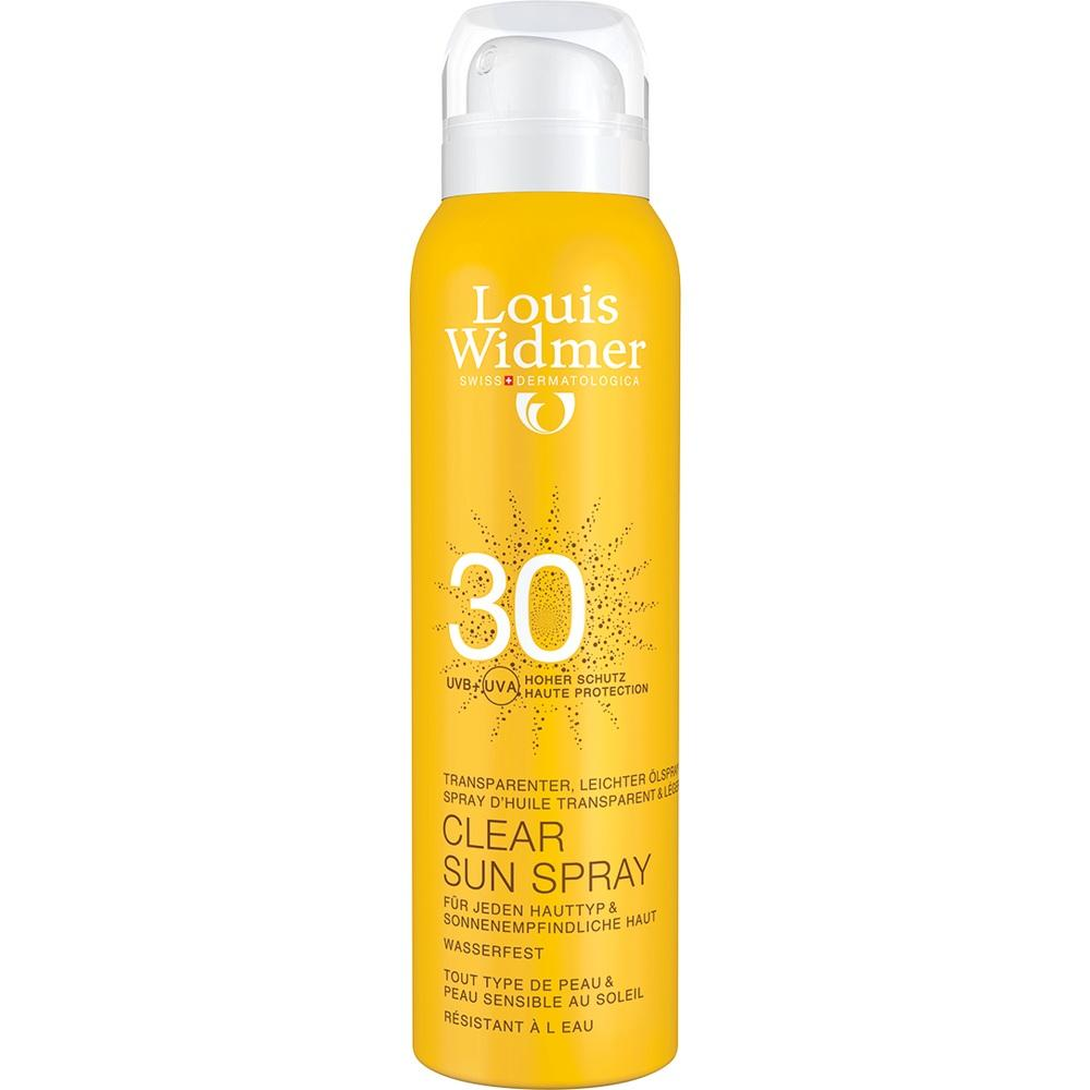07655856, Widmer Clear Sun Spray 30 leicht parfümiert, 125 ML
