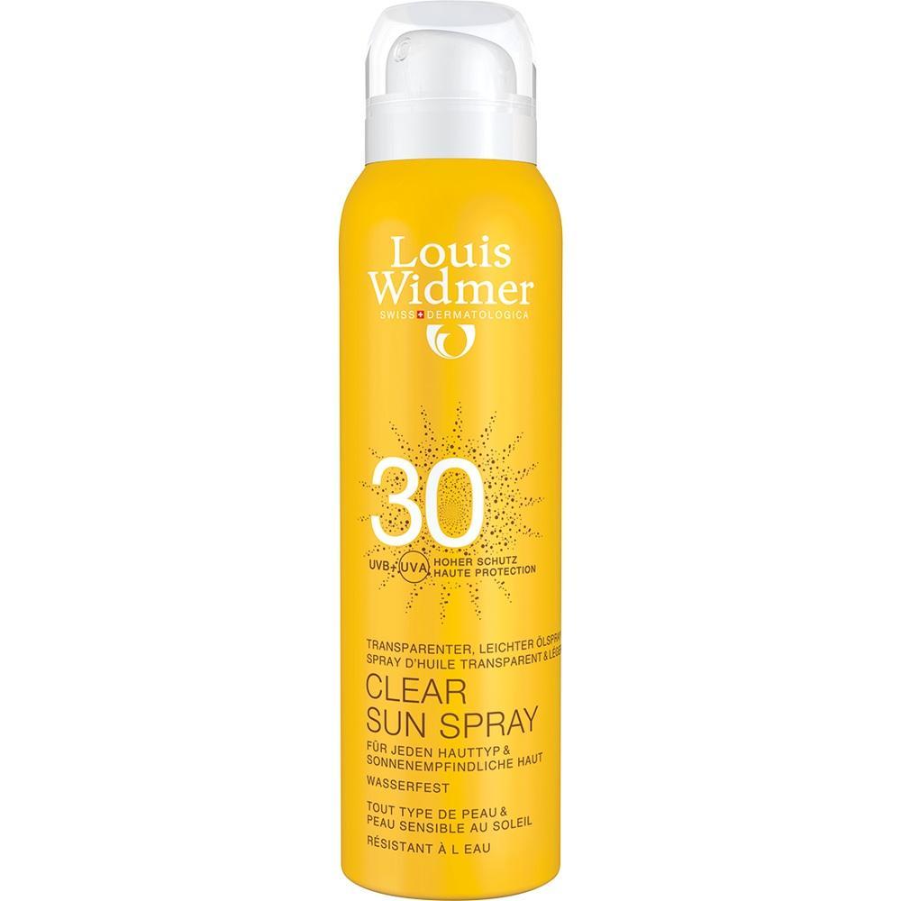 07655862, Widmer Clear Sun Spray 30 nicht parfümiert, 125 ML