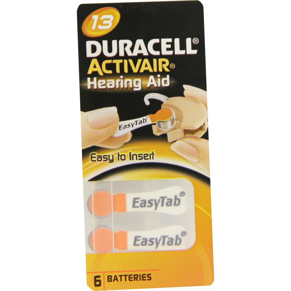 07656442, Batterie für Hörgeräte Duracell 13, 6 ST