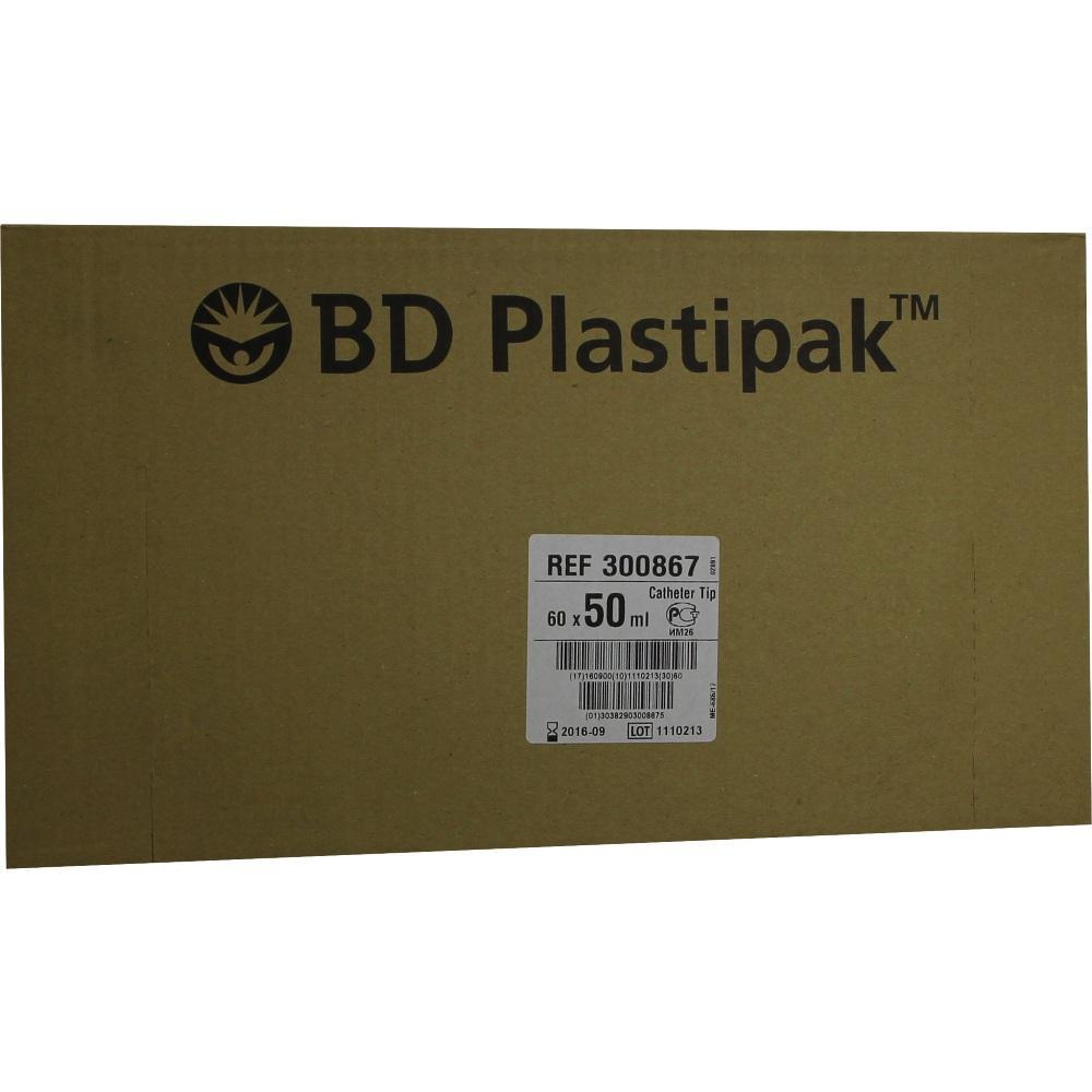 07664217, BD Plastipak W+B 50/60ml m Katheteransatz, 60 ST
