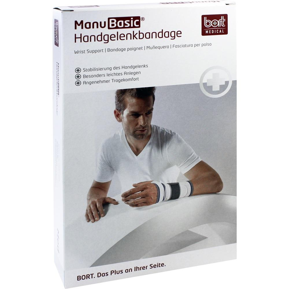 BORT ManuBasic Bandage links medium silber