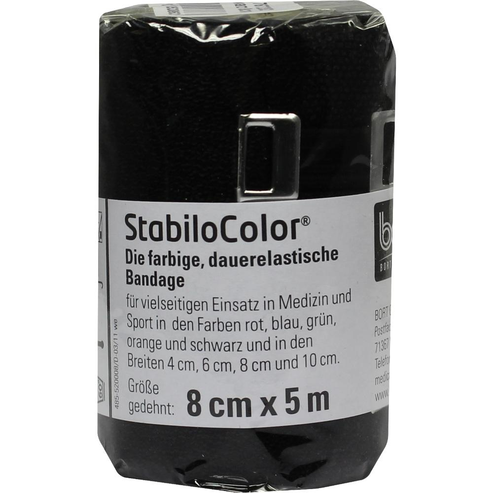 BORT StabiloColor Binde 8cm schwarz