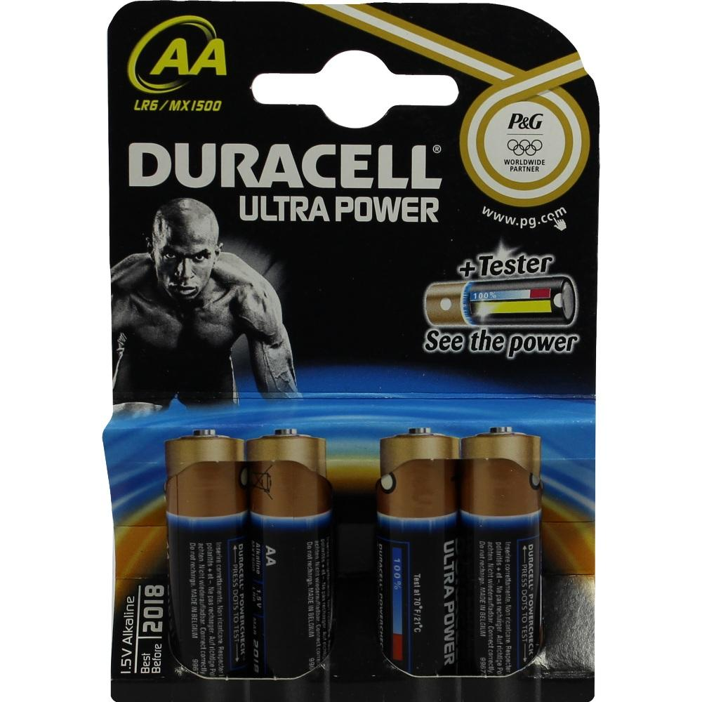 Duracell Germany GmbH DURACELL Ultra Power AA (MN1500/LR6) K4 m.Powerch. 07704804