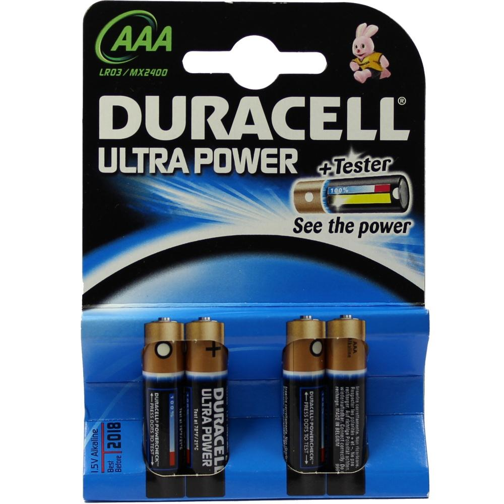 Duracell Germany GmbH DURACELL Ultra Power AAA (MN2400/LR03)K4 m.Powerch 07704810