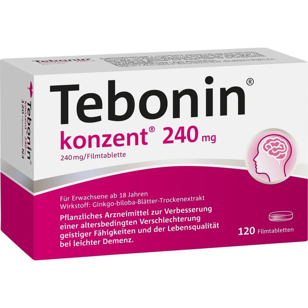 07752045, Tebonin Konzent 240mg Filmtabletten, 120 ST