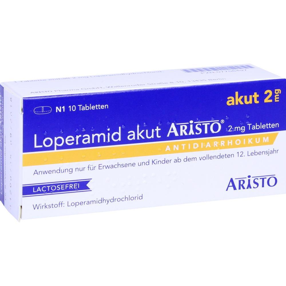 07756497, Loperamid akut Aristo 2mg Tabletten, 10 ST