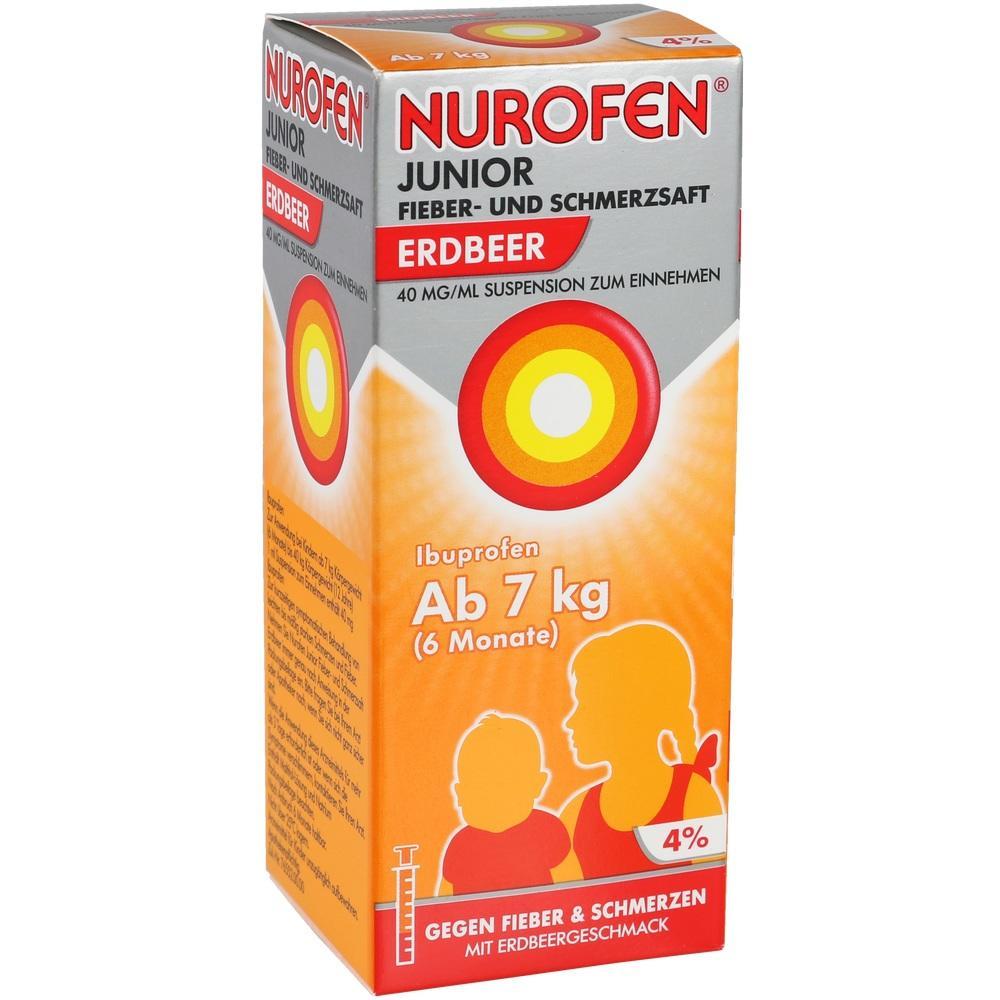 07776471, Nurofen Junior Fieber-+Schmerzsaft Erdbeer 40mg/ml, 100 ML