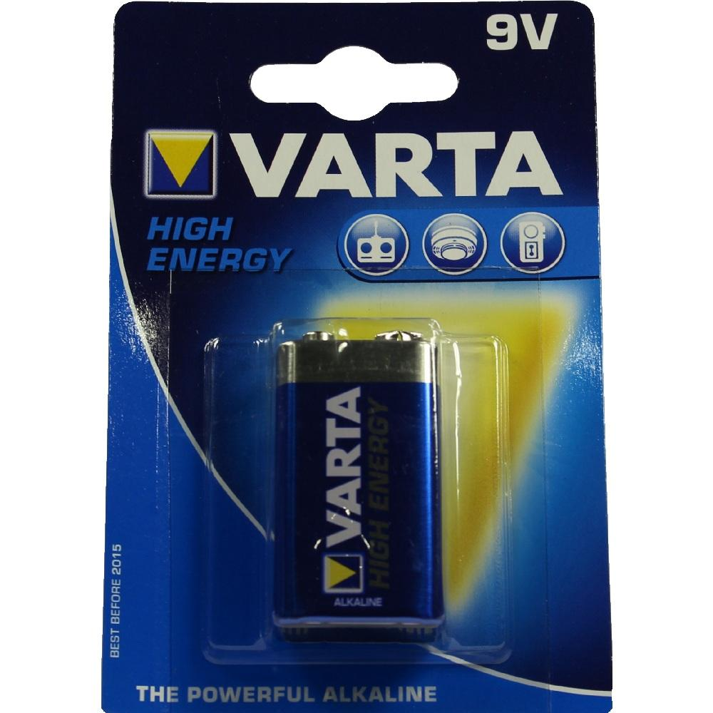 BATTERIEN E Block 6LR61 9V 4922 Varta High