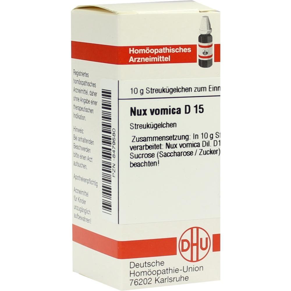 NUX VOMICA D 15 Globuli