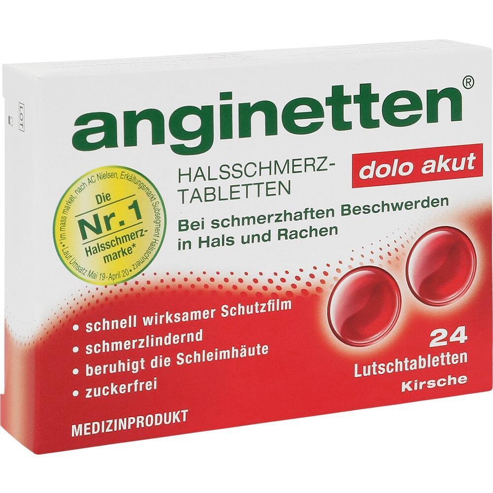 08628092, anginetten dolo akut Halstabletten, 24 ST