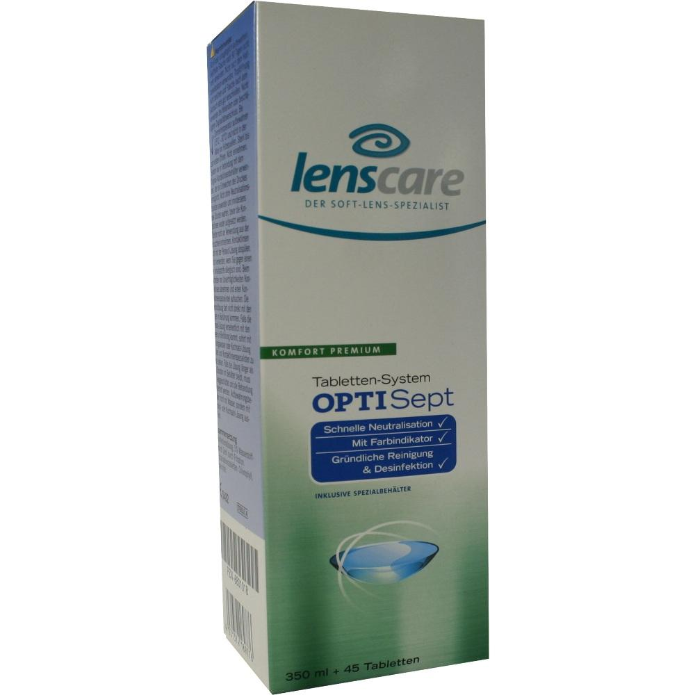 08801018, Lenscare OptiSept 350ml + 45 Tabl. + 1 Beh, 1 P