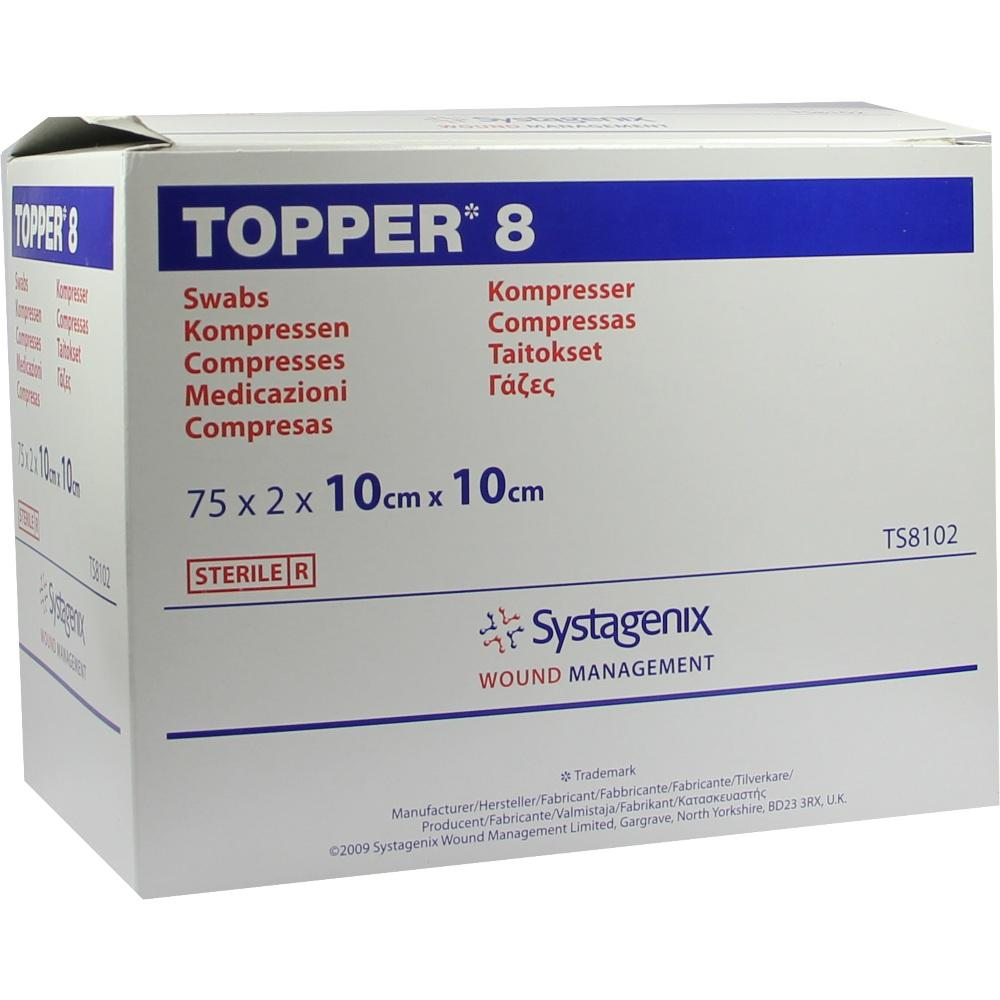 TOPPER 8 Kompr.10x10 cm steril
