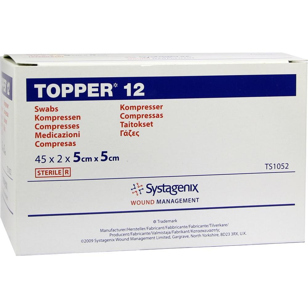 TOPPER 12 Kompr.5x5 cm steril