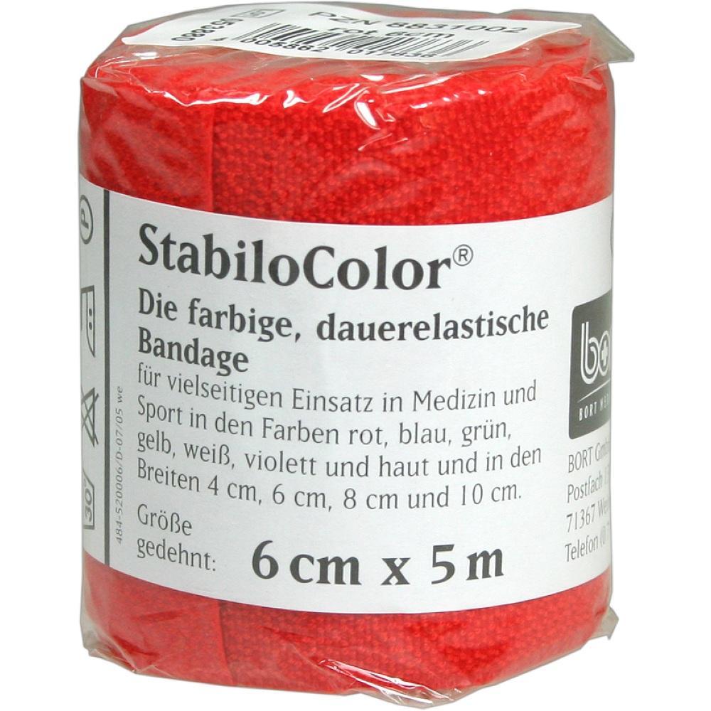 BORT StabiloColor Binde 6cm rot