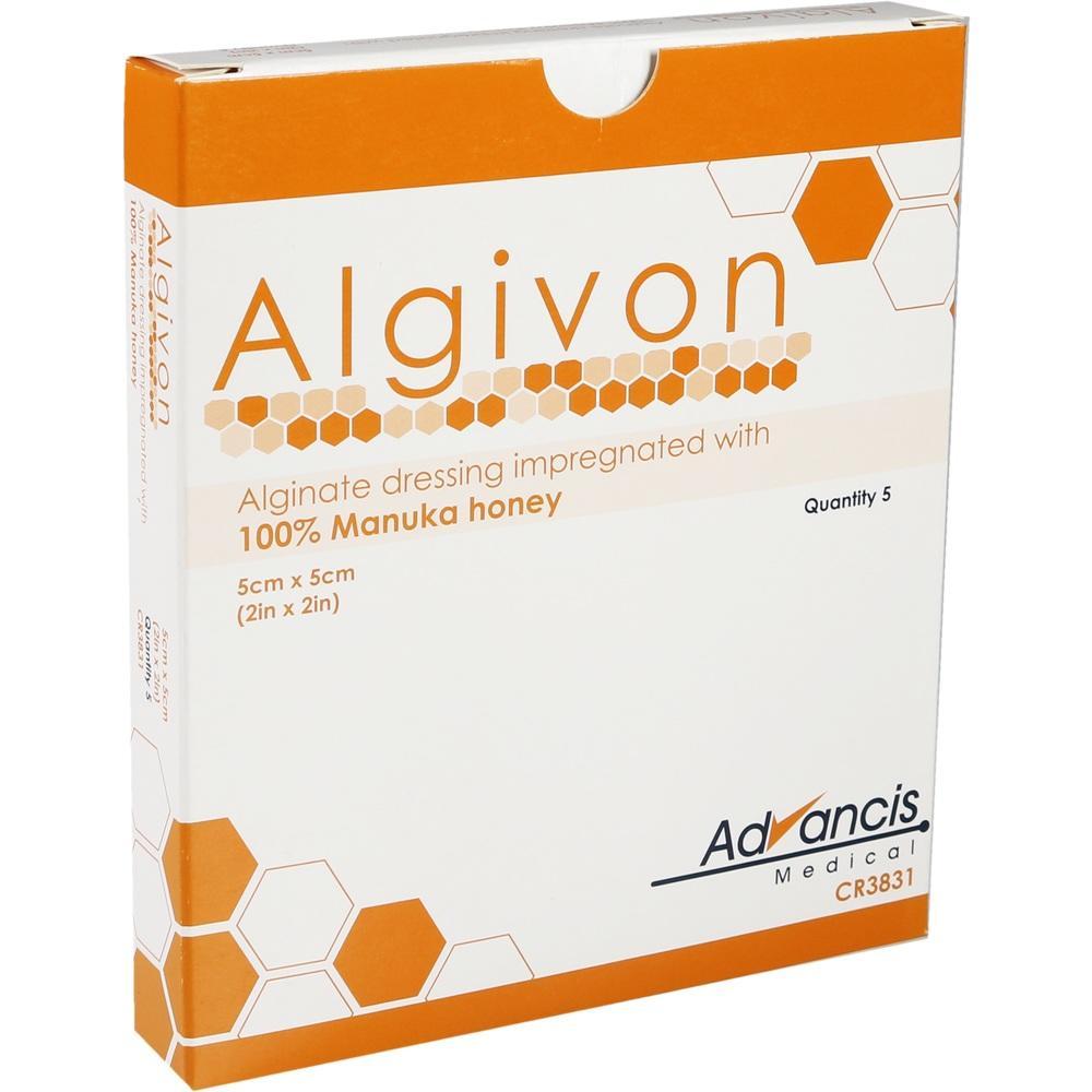 08840260, Algivon 5x5cm HONIG-WUNDAUFLAGE, 5 ST