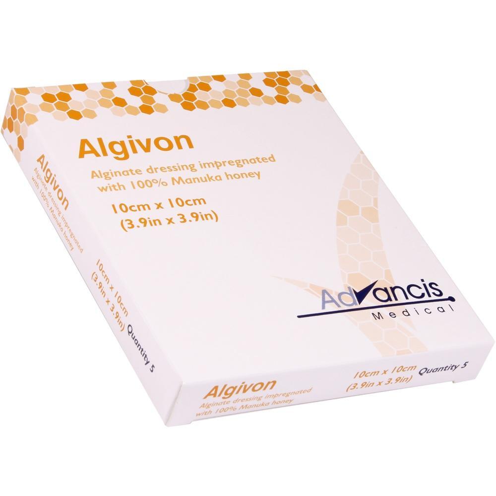08840277, Algivon 10x10cm HONIG-WUNDAUFLAGE, 5 ST