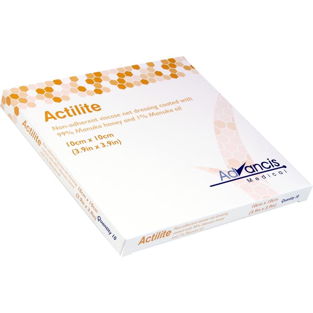 08840283, Actilite 10x10cm HONIG-WUNDAUFLAGE, 10 ST