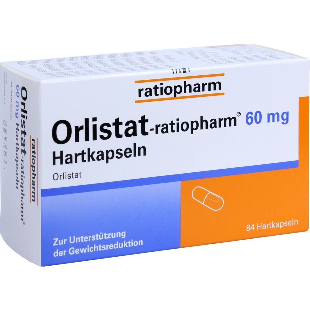 08845406, Orlistat-ratiopharm 60 mg Hartkapseln, 84 ST
