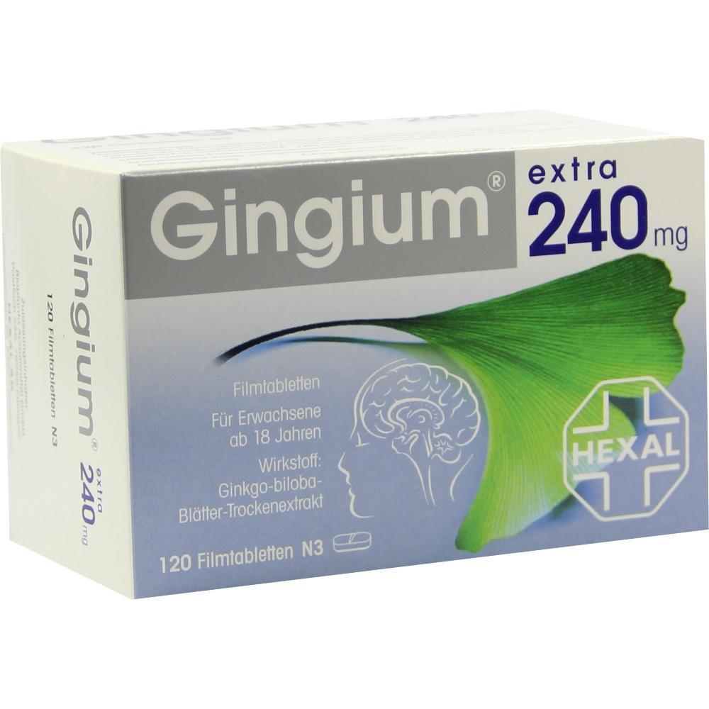 08868198, Gingium extra 240mg Filmtabletten, 120 ST