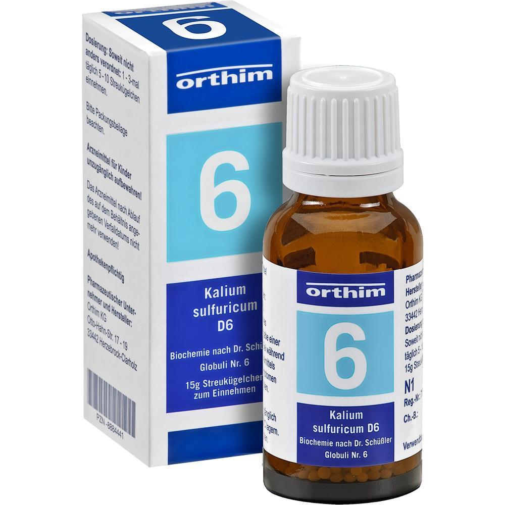08884501, Biochemie Globuli Nr. 6 Kalium sulfuricum D 6, 15 G