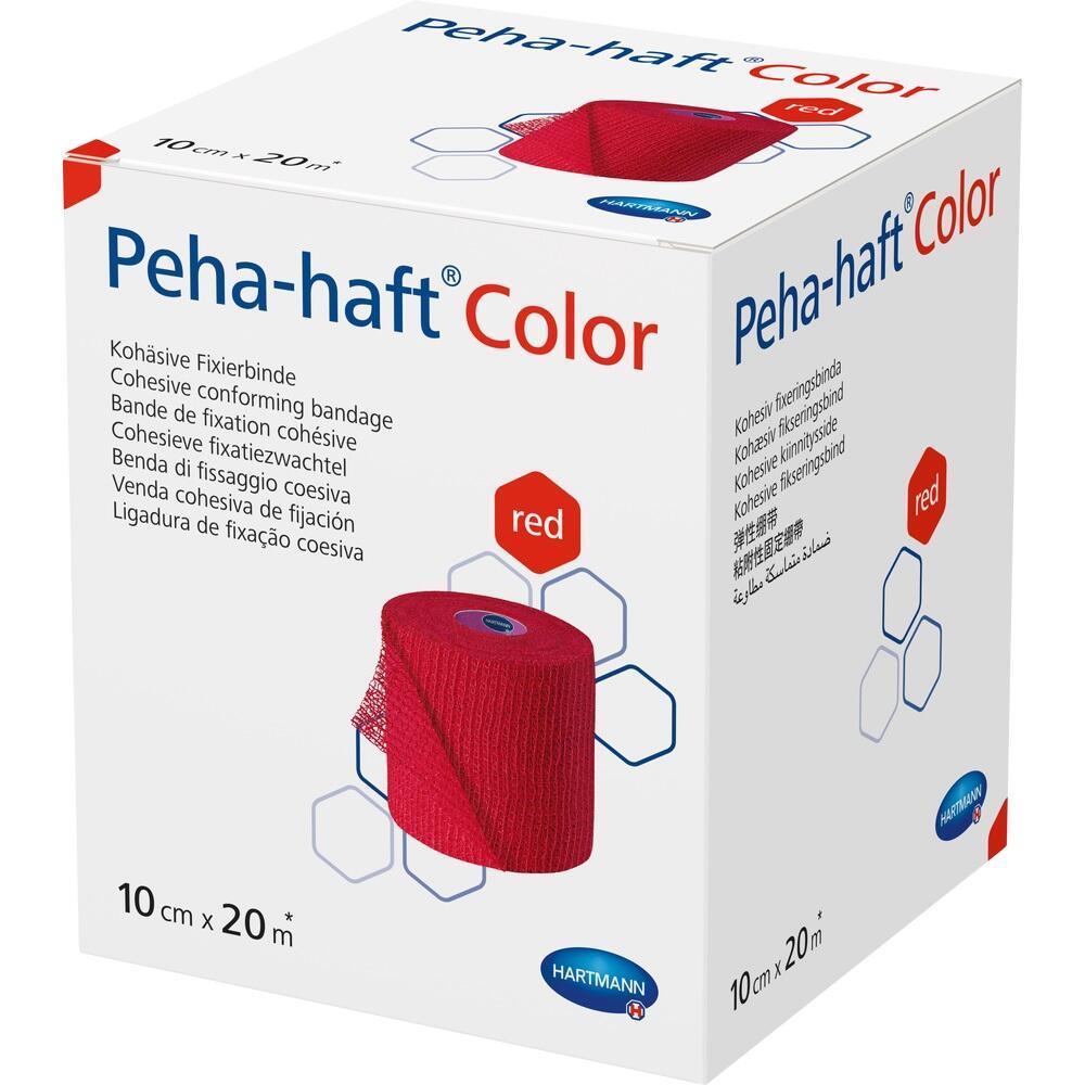 PEHA-HAFT Color Fixierbinde latexf.10 cmx20 m rot