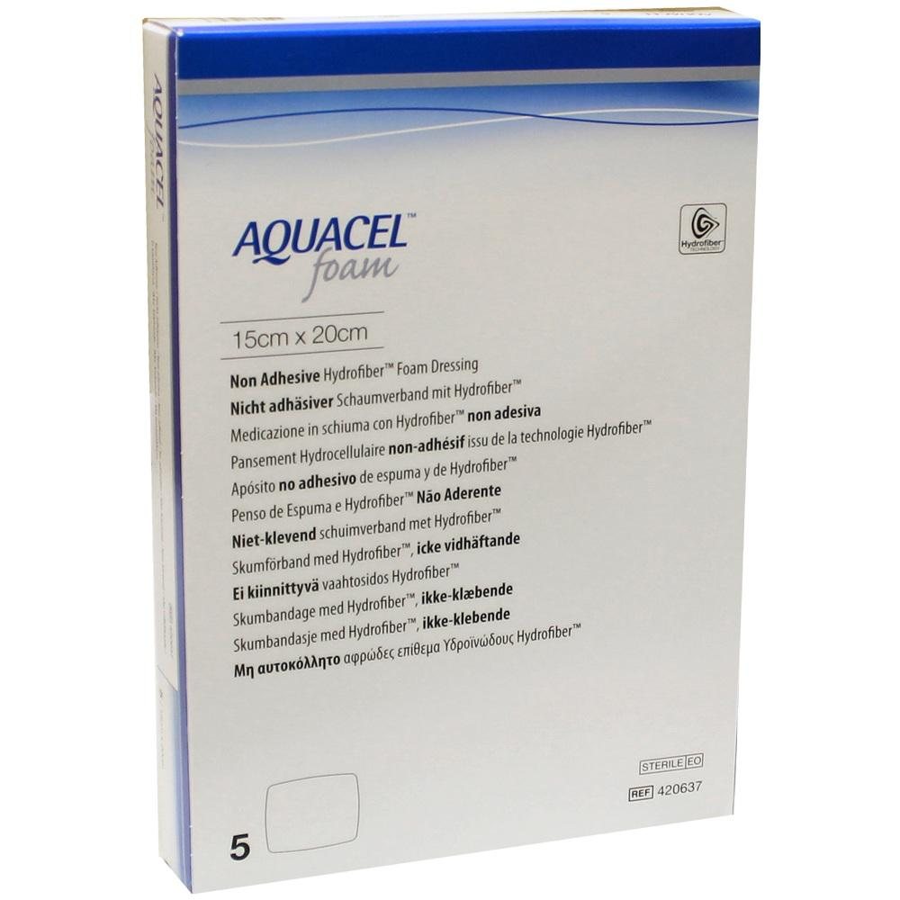 AQUACEL Foam nicht adhäsiv 15x20 cm Verband