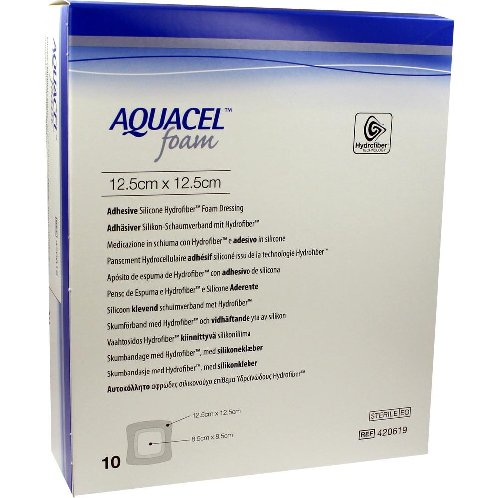 AQUACEL Foam adhäsiv 12,5x12,5 cm Verband