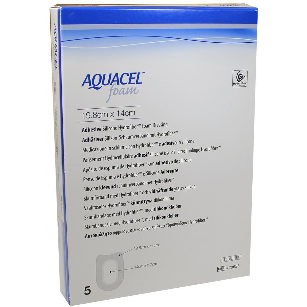 AQUACEL Foam adhäsiv Ferse 14x19,8 cm Verband