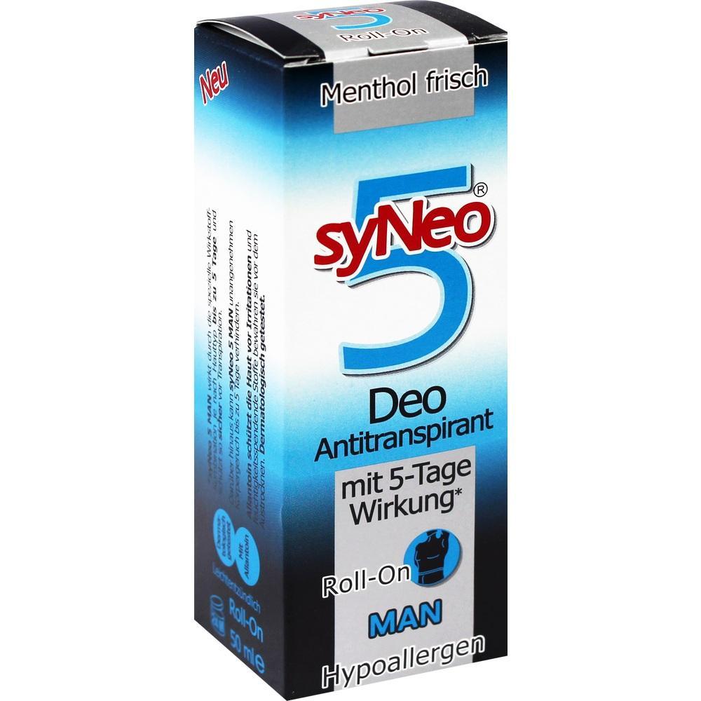 09100826, syNEO 5 MAN Roll-On Deo-Antitranspirant, 50 ML