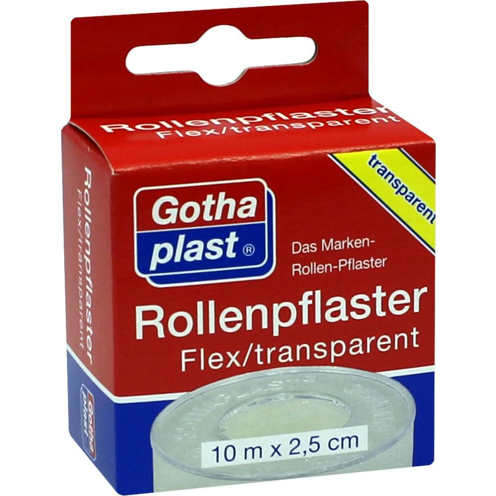 ROLLENPFLASTER Flex 2,5 cmx10 m trp.Euroaufhänger