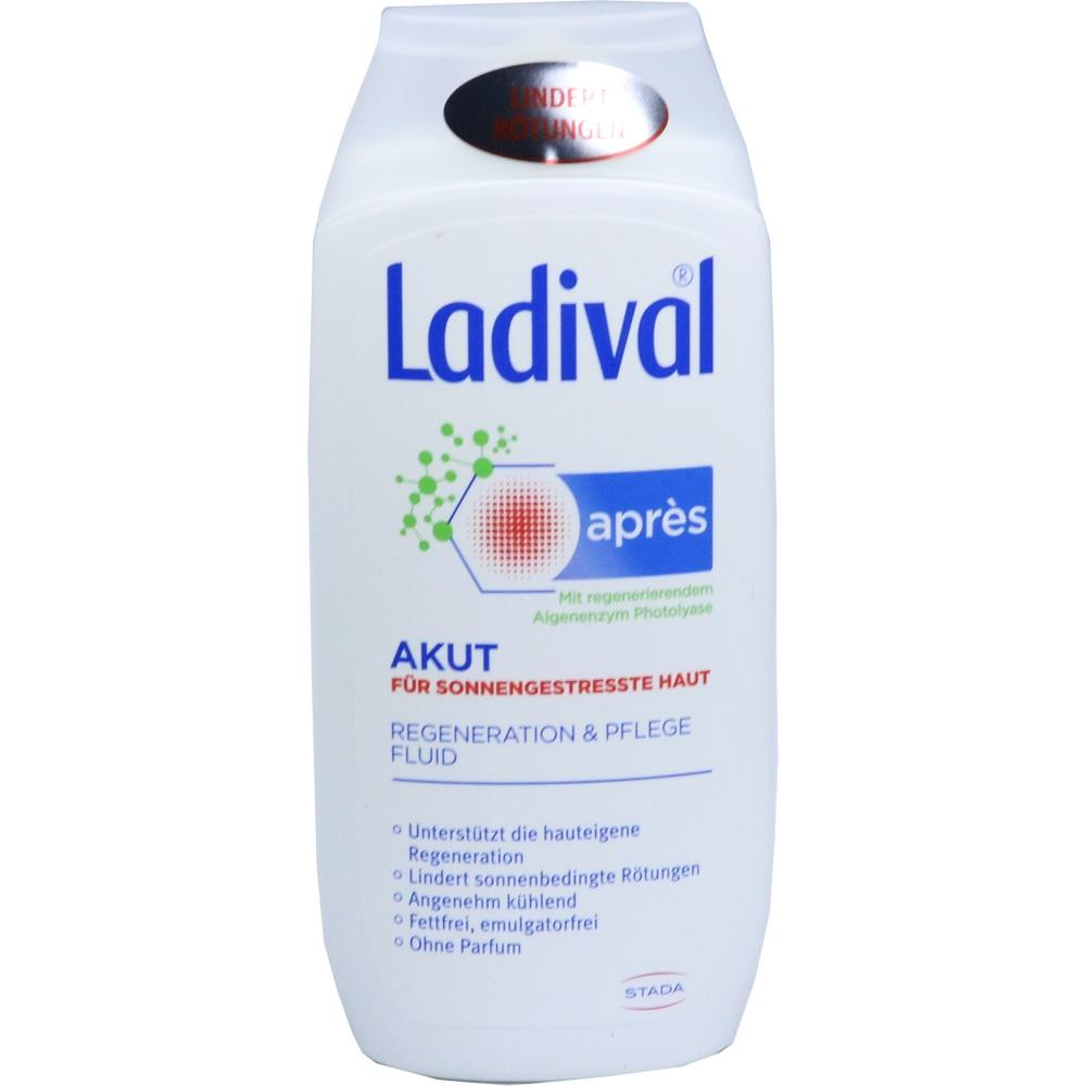09240800, Ladival Apres Pflege Akut Beruhigungs Fluid, 200 ML