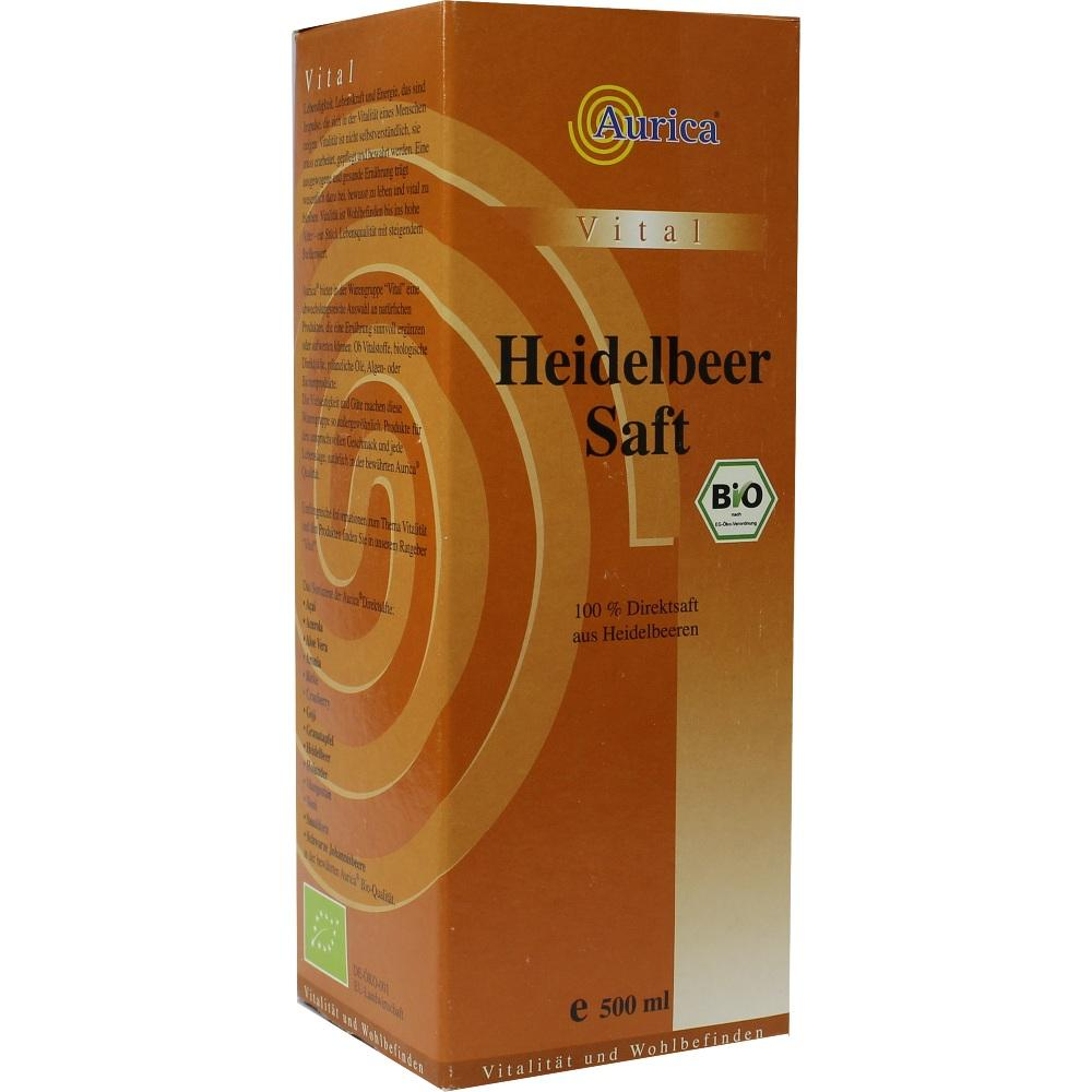 09240987, Heidelbeer 100% Direktsaft Bio, 500 ML