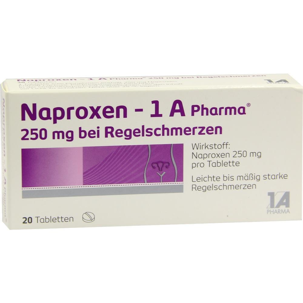 09245016, Naproxen - 1 A Pharma 250 mg bei Regelschmerzen, 20 ST