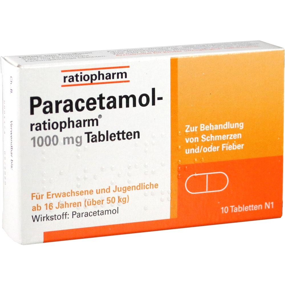09263936, Paracetamol-ratiopharm 1000 mg Tabletten, 10 ST