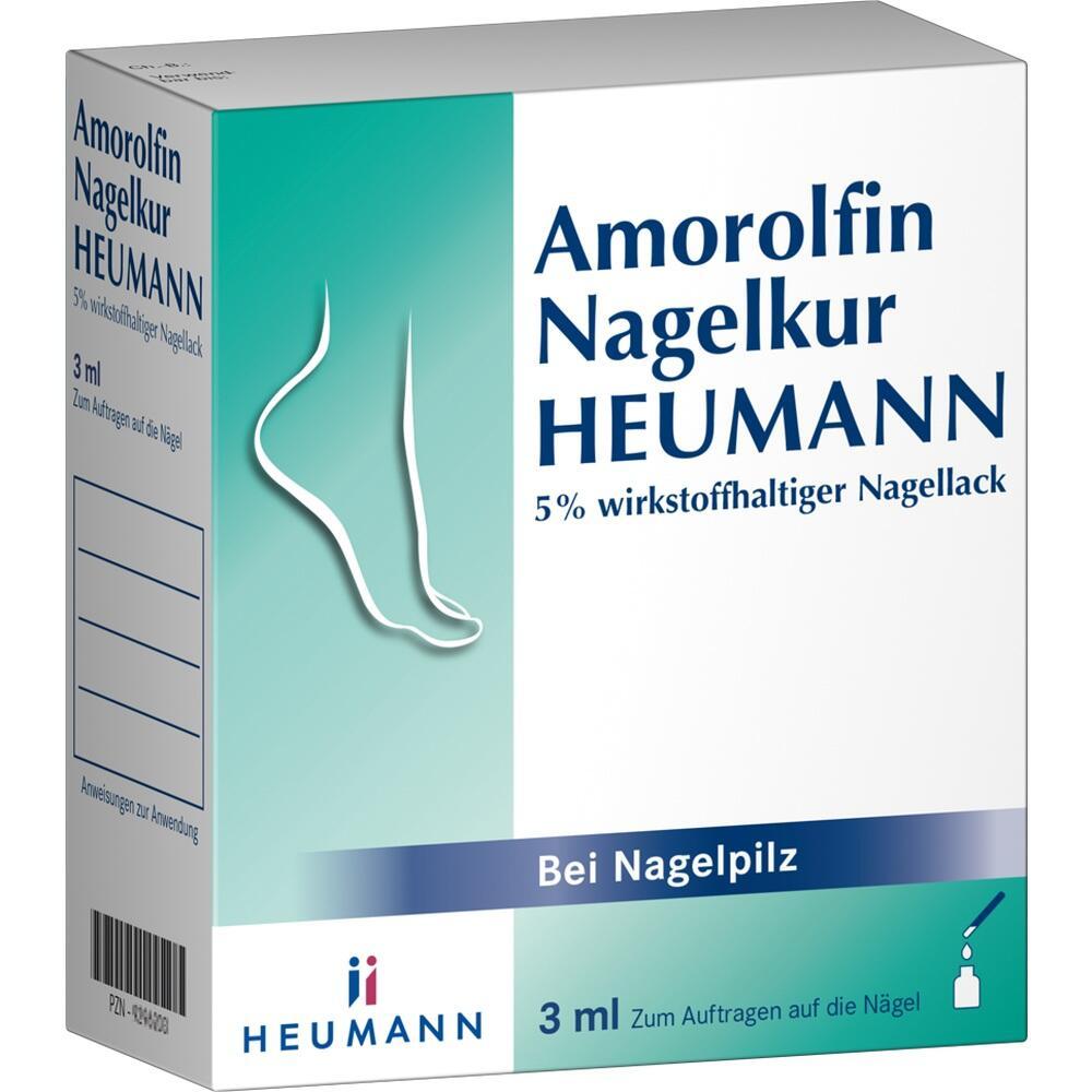 09296195, Amorolfin Nagelkur Heumann 5% wirkstoffh.Nagellack, 3 ML