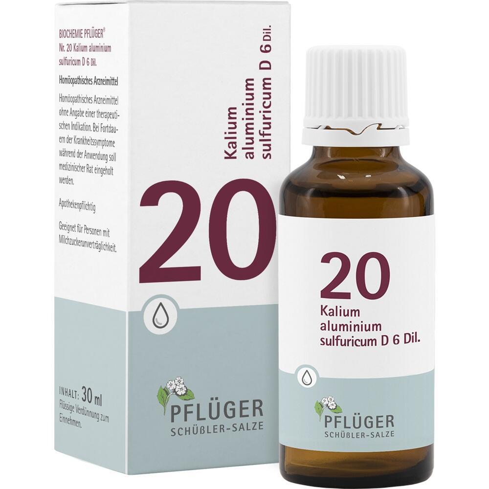 09298662, Biochemie Pflüger NR. 20 Kalium alu.sul. D 6, 30 ML