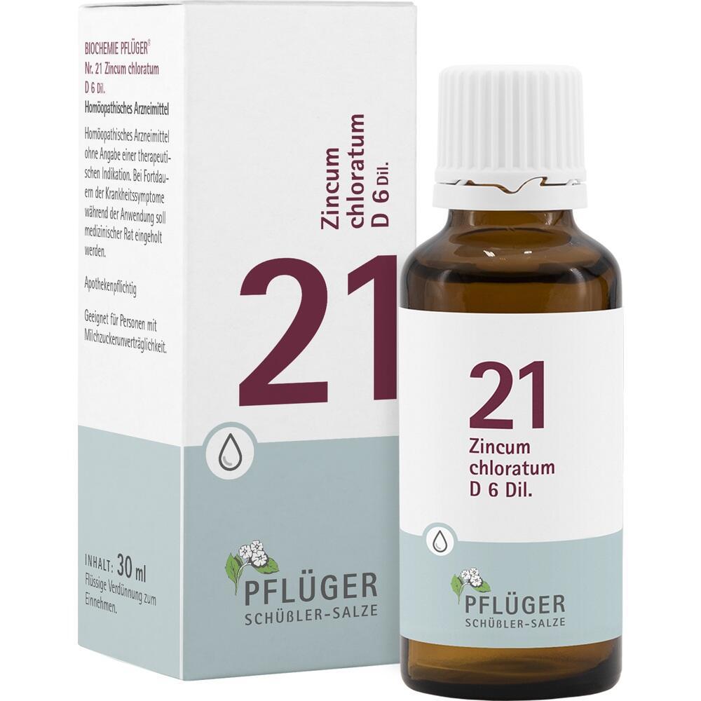 09298685, Biochemie Pflüger NR. 21 Zincum chlor. D 6, 30 ML
