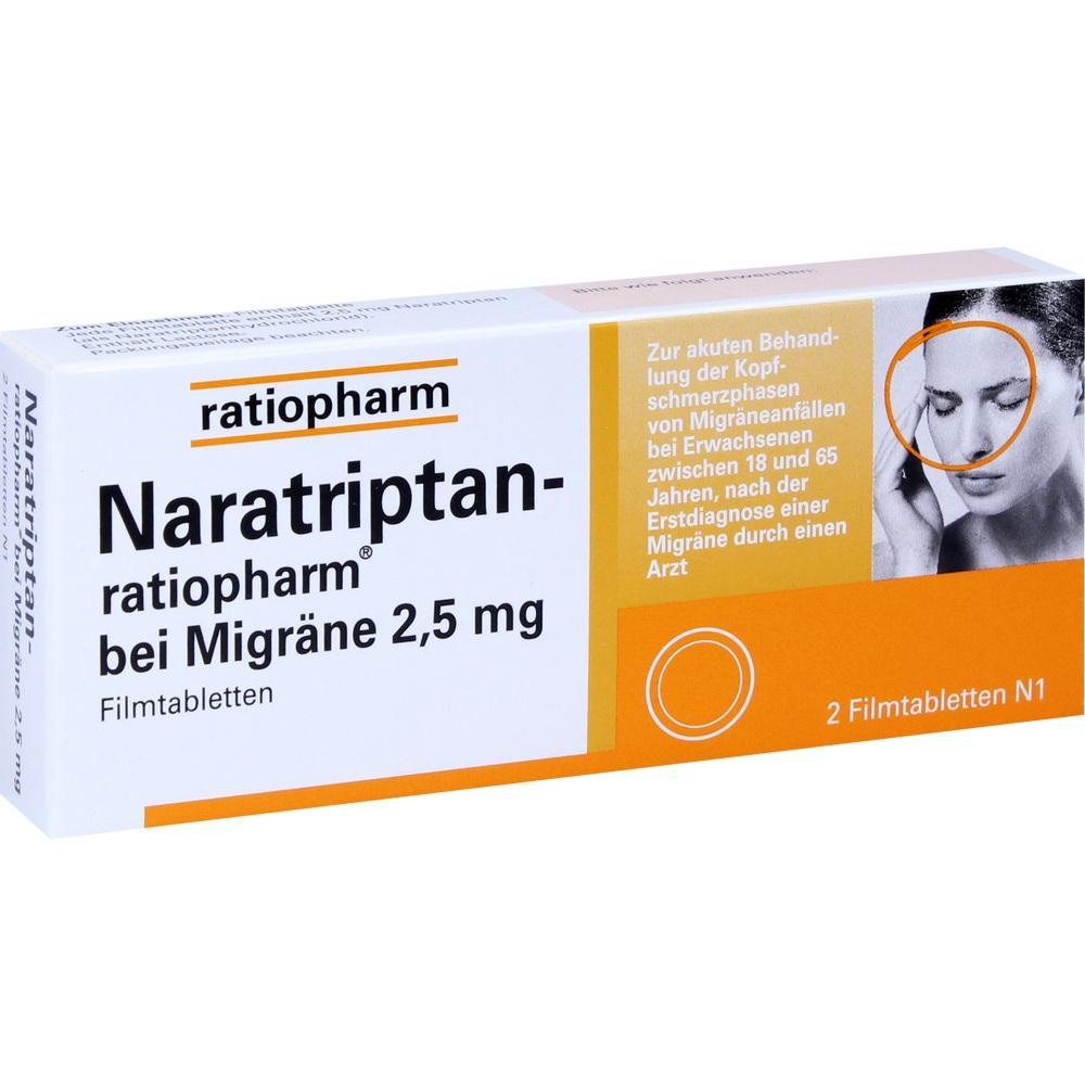 09321616, Naratriptan-ratiopharm bei Migräne, 2 ST