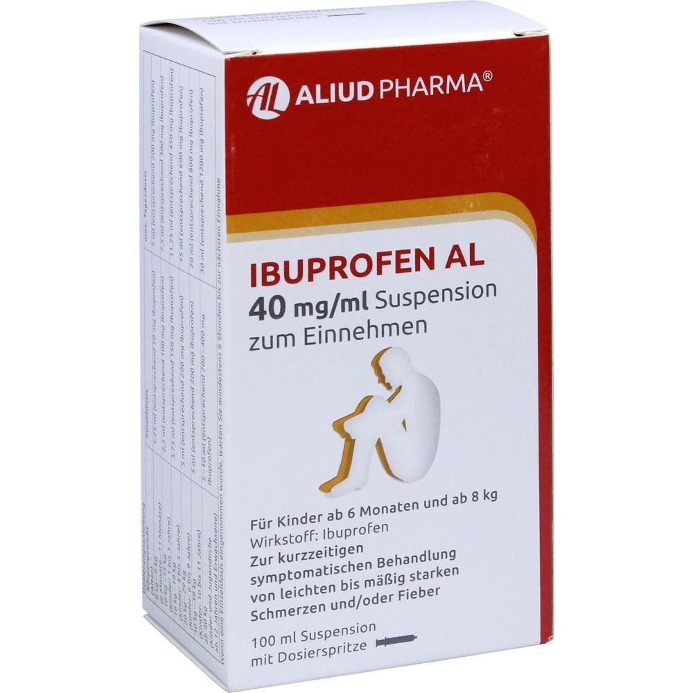 09443124, Ibuprofen AL 40mg/ml Suspension zum Einnehmen, 100 ML
