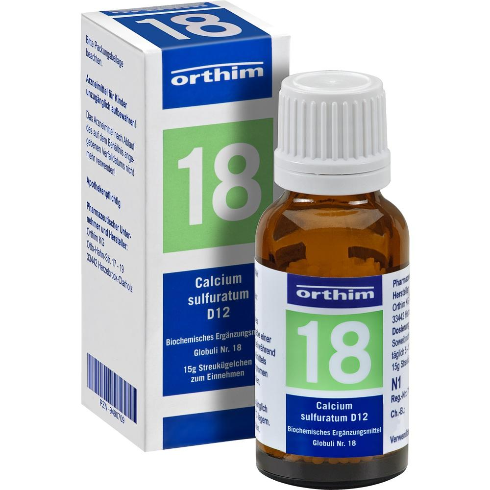 09490709, Biochemie Globuli Nr.18 Calcium sulfuratum D12, 15 G